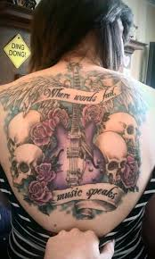 music skull tattoos design of tattoosdesign of tattoos