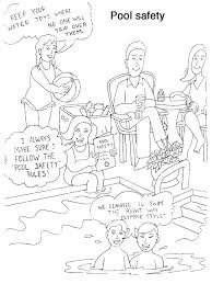 coloring pages water safety swimming coloring pages water safety coloring pages swim coloring