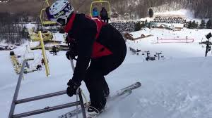outside the toboggan handles in the bumps youtube