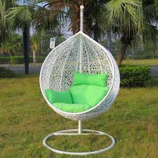 white hammock chair stand with green pillow antiquesl com