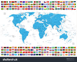 World Map Labled by All Country Flags World Map All Stock Vector 589946378 Shutterstock