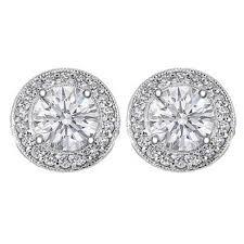 diamond earring studs diamond earrings 1 tcw pave halo diamond stud earrings in