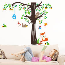 stickers animaux chambre b sticker mural and wall ideas awesome mural wallpaper avec