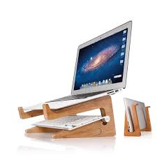 support pc bureau detachable laptop desk laptop stand wooden holder mount for macbook
