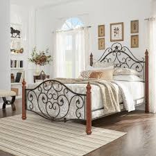 black queen wrought iron headboard doherty house iron romantic