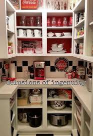 themed kitchen coca cola themed kitchen pantry hometalk