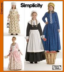 historical pattern review simplicity 3725 4 girl s historic costumes