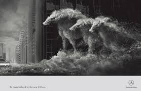 mercedes print advert by dentsu horses ads of the world