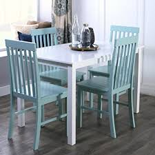 Chic Dining Room New 5 Chic Dining Set Table And 4 Chairs White