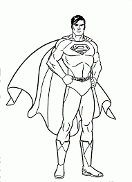 superman pictures cartoon coloring