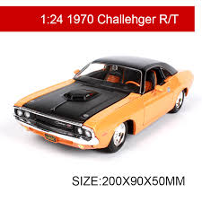 collectible model cars 1 24 model car 1970 challenger rt metal racing vehicle play