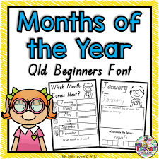 months of the year worksheets qld beginners font the alphabet tree
