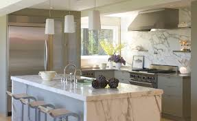 marble kitchen islands calcutta marble island contemporary kitchen ken linsteadt