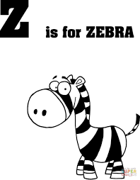 letter zebra coloring free printable coloring pages