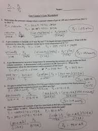 Charles Worksheet Answer Key Assignments Labs Erhs Chemistry With Mr Stagg