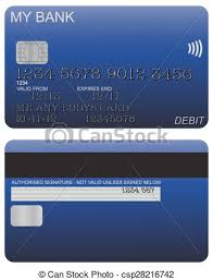 free debit card eps vector of debit card detail blue front and back of blue