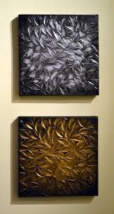 original modern home decor sculpture 10x20 textured silver gold