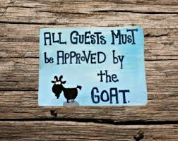 Personalized Wood Signs Home Decor Goat Signs Etsy