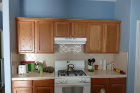 blue kitchen walls with brown cabinets 25 fantastic paint ideas for kitchen slodive blue