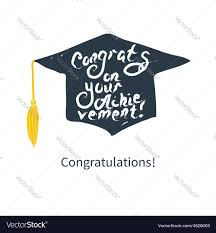 congratulations card greeting card with congratulations graduate vector image