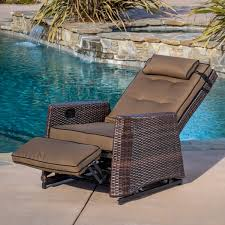 Wicker Reclining Patio Chair Reclining Patio Chair Christopher Knigh Home Brown Wicker The