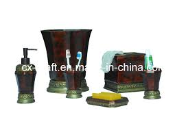 decorative bathroom accessory set cx080154 china hotel bathroom