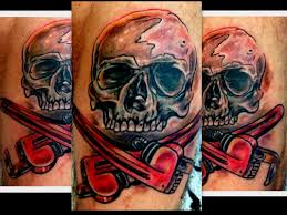 what are skull tattoos and what do they stand for plumber skull and cross bone by haley adams plumber tattoo