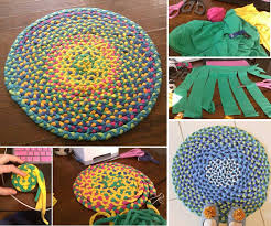 Diy Area Rug How To Make Beautiful Area Rug With Old T Shirts Step By Step Diy