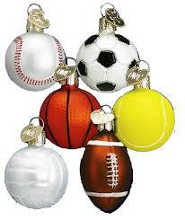 world ornaments assorted mini sport balls 44023