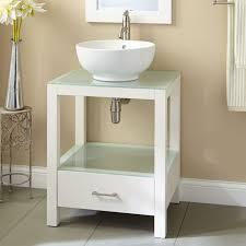 Bathroom Table Vanity by Small Bathroom Glass Wall Mount Vessel Sink Vanity Combo Set