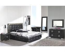 Modern Bedroom Set Furniture Bedroom Set Valencia In Black Made In Spain 33b251
