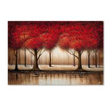 parade of trees canvas wall jcpenney