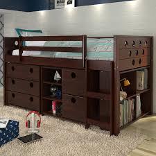 donco kids circles twin loft bed with storage u0026 reviews wayfair