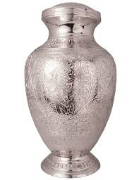 urn for ashes floral silver companion urn urns for ashes
