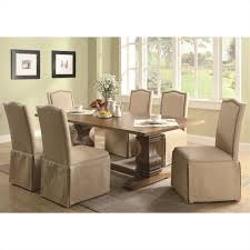 Coaster Dining Room Chairs Coaster Parkins Parson Dining Chair With Skirt In Light Brown