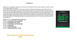 crush it audiobook free mp3