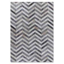 chevron hide rug buy white chevron rug from bed bath beyond