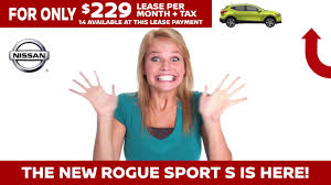 nissan rogue for lease mossy nissan has the 2017 nissan rogue sport s only 229 lease