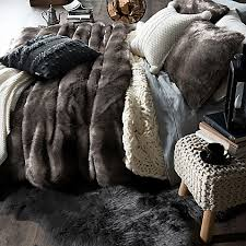 Fur Bed Set Cozy Bedding Faux Fur U0026 Lodge Bedding Sets Bed Bath U0026 Beyond