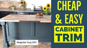 cabinet trim kitchen sink diy island cabinet trim kitchen makeover series part 3