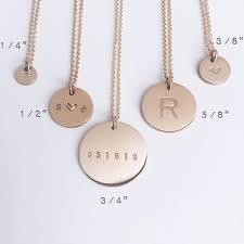 disc necklace initial disc necklace 3 8 made by