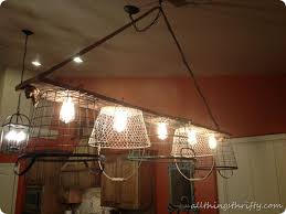 Basket Chandeliers Wire Basket Chandelier Tutorial Finally All Things Thrifty