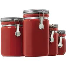 stackable glass kitchen canisters in kitchen canisters