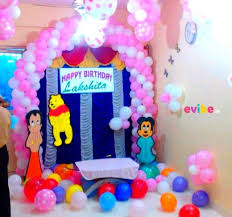 Home Balloon Decoration Superb Home Balloon Decoration With Cartoon Cut Outs Birthday