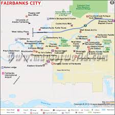 alaska major cities map fairbanks city map map of fairbanks city alaska