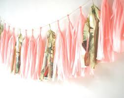 pink garland pink garland etsy