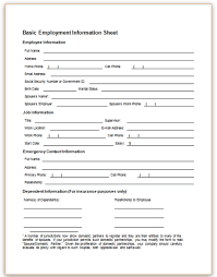 employees information sheet employee emergency contact forms expin franklinfire co
