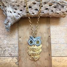 vintage owl necklace jewelry images Vintage owl necklace articulated owl pendant thick gold chain jpeg