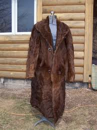Rugged Bear Jackets Vintage Bear Horse Full Length Fur Coat Pelts Mountain Man