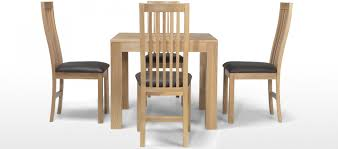 Oak Extending Dining Table And 4 Chairs Cube Oak 90 Cm Dining Table And 4 Chairs Quercus Living